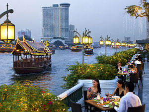 River Side Restaurants with Open Air Terrace