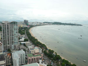 Hotels located on the Pattaya Beach Road